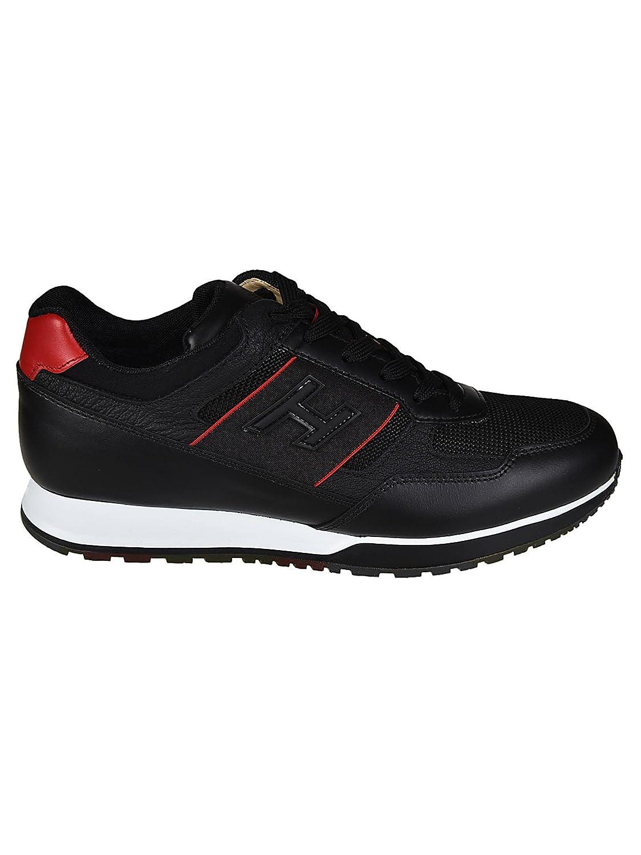 Hogan メンズ HXM3210K800IJM206L ブラック 革 運動靴 B07DSYX918