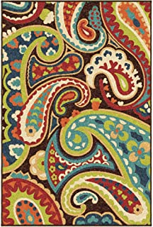 "product image for Orian Rugs Veranda Indoor/Outdoor Paisley Area Rug, 6'5"" x 9'8"", Multicolor"