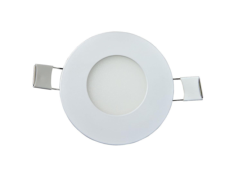 Cool White Cool White, 5 5 Pack Leisure LED RV Boat Recessed Ceiling Light 240 Lumen Super Slim LED Panel Light DC 12V 3.375 3W Full Aluminum Downlights Cool White, 5 Pack