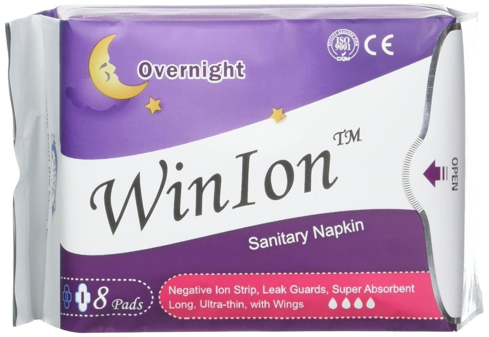 Anion Sanitary Napkin 10 Day, 4 Overnight, 5 Pantiliner Packs 232 Pads