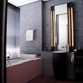led espejos de bao tocador para pred frontal de espejo de maquillaje contra niebla impermeable ligero