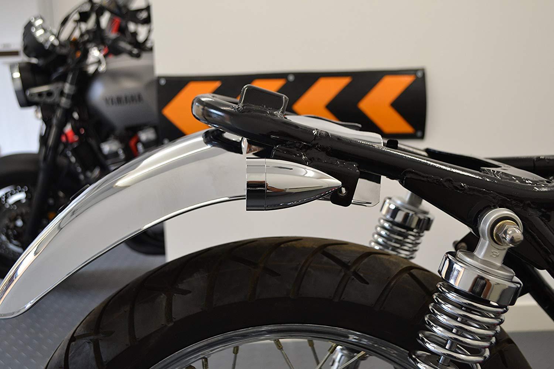 Stop /& Fari Posteriori Cromo Retro Motocicletta Integrato Frecce LED