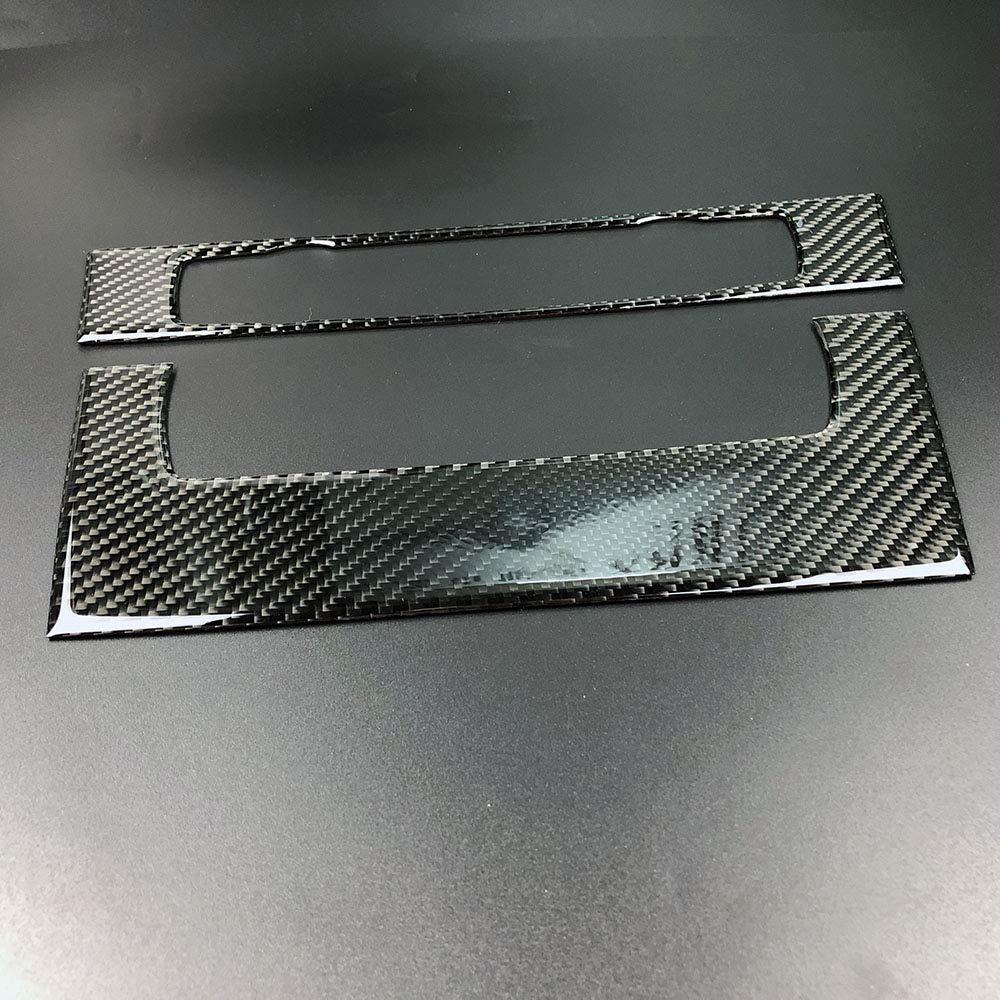 Carbon Fiber Interior Decoration Decal Frame Cover Trim for BMW 3 Series E90 E91 E92 E93 2004-2013 Engine Start Push Start Button Ignition Starter, Black