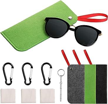 Estuche para gafas, 3 unidades, bolsa para gafas de sol, bolsa para gafas de lectura portátil: Amazon.es: Salud y cuidado personal