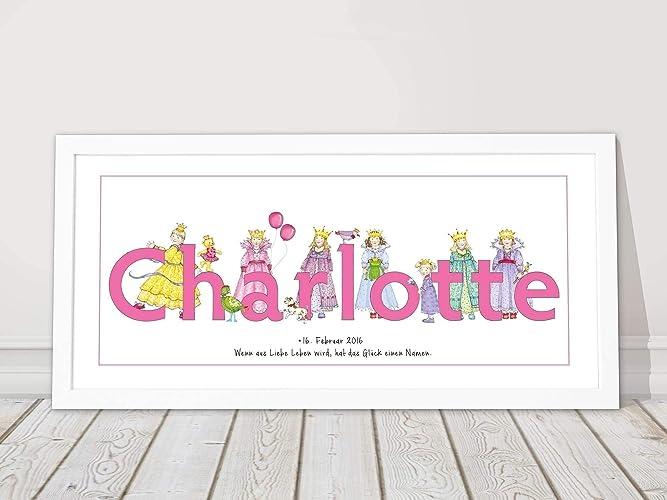 Baby Geschenk Personalisiert Madchen Kinderzimmer Bild Zur Geburt