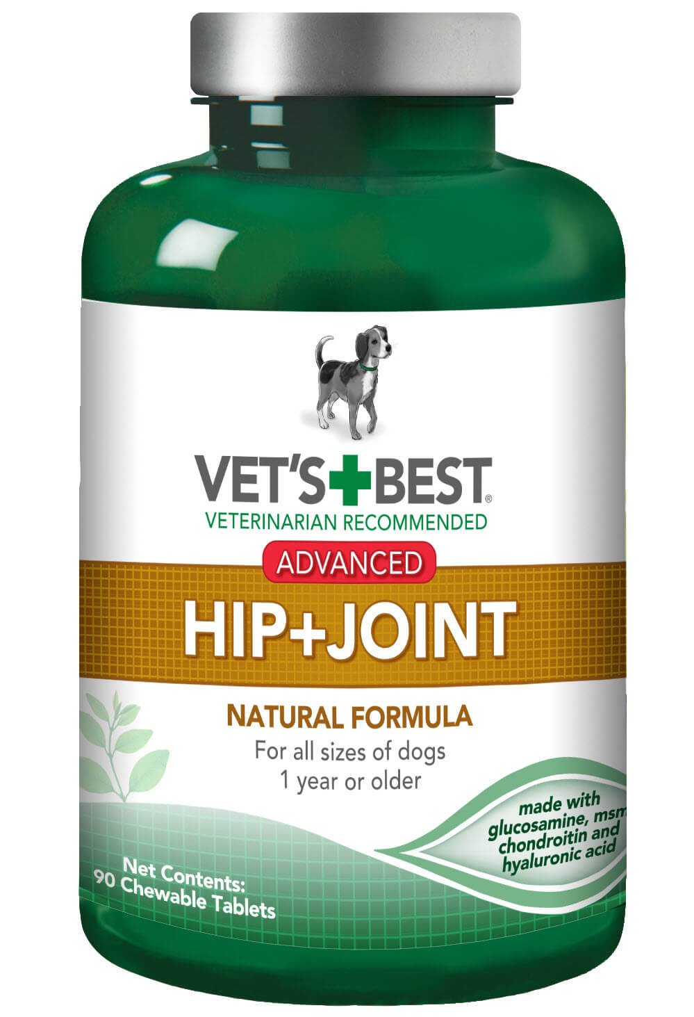 Vet's Best Advanced Hip & Joint Dog Supplements, 90 Chewable Tablets