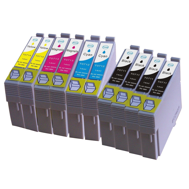 10 Cartuchos de Tinta para Epson T0711, T0712, T0713, T0714 para ...