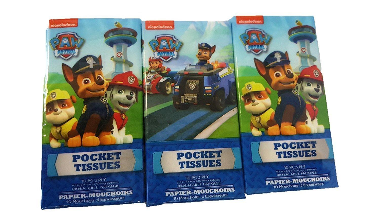 Kids Pocket Tissue Nickelodeon Paw Patrol 10 PCS 3 Ply