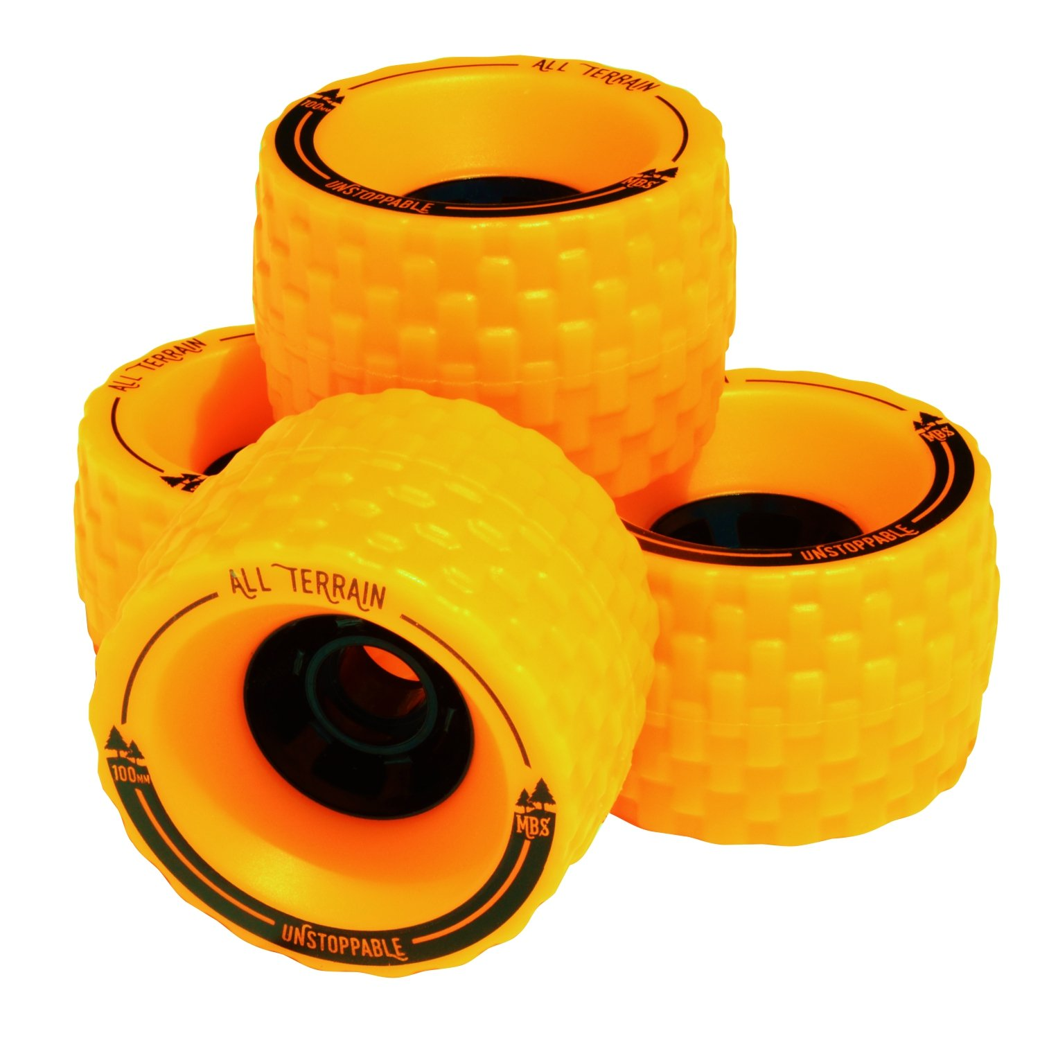 MBS All-Terrain Longboard Wheels (4), Orange by MBS