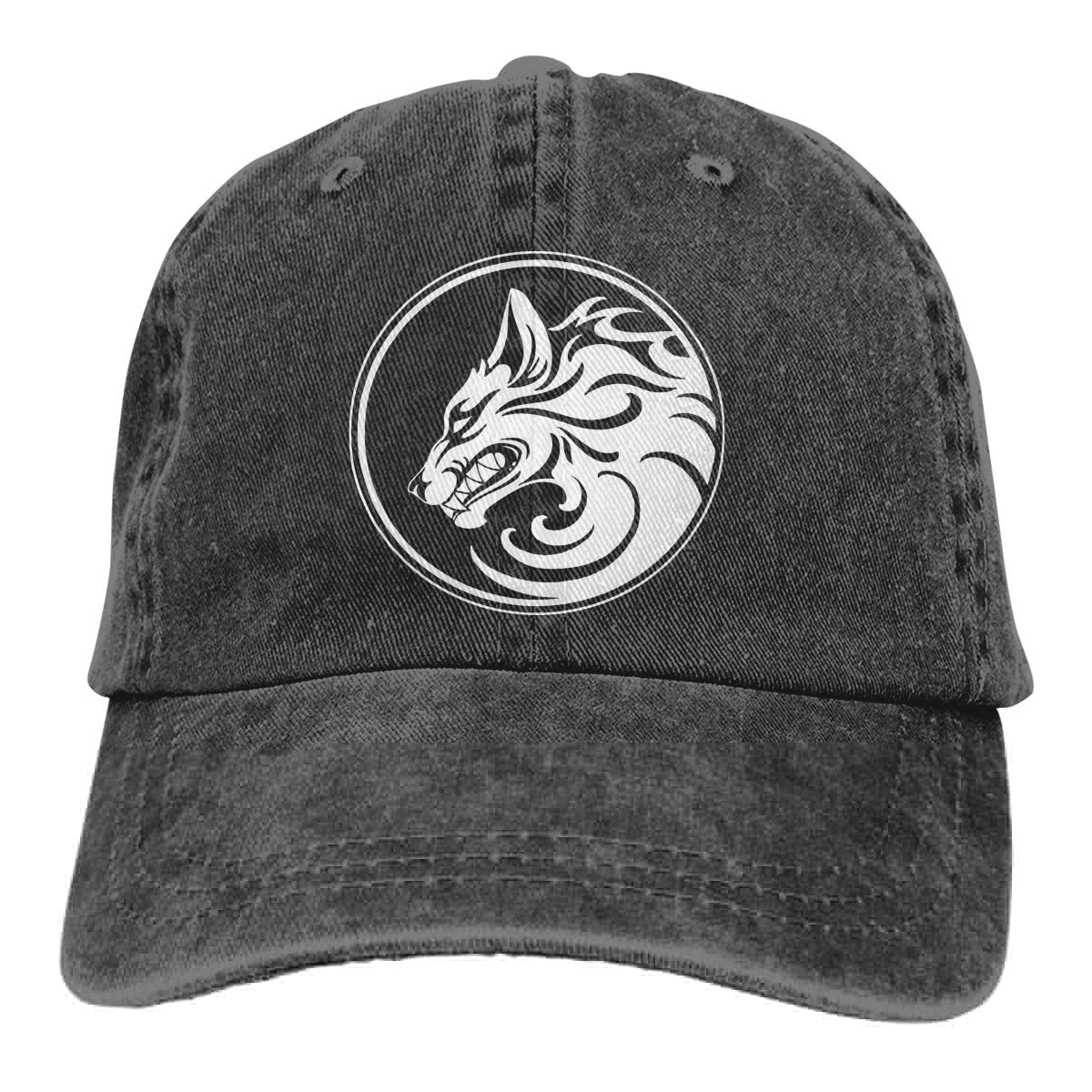 Roaring Wolf Unisex Adult Cowboy Hat Hip Hop Cap Adjustable Truck Driver Hat