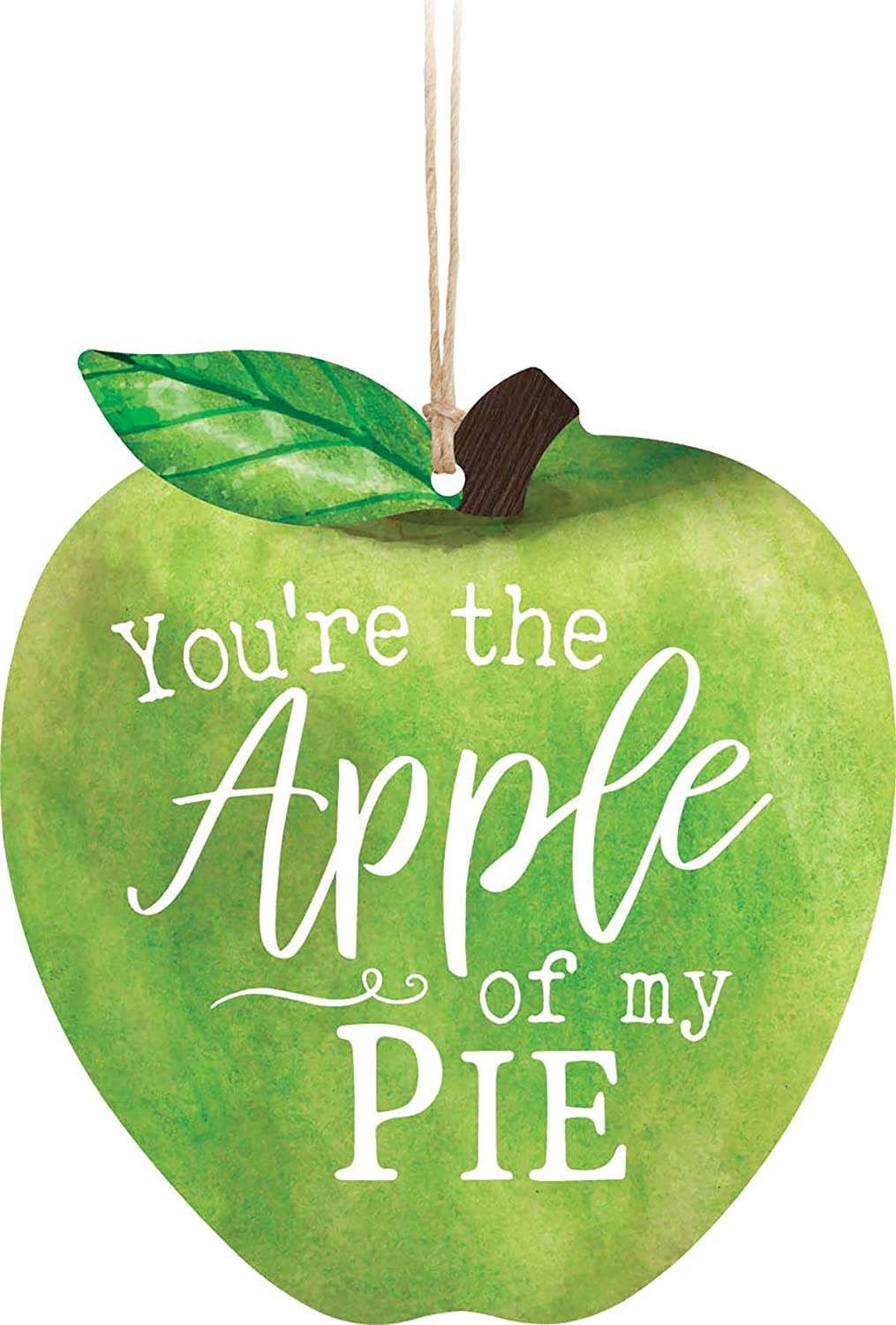 You're The Apple of My Pie Apple Green 3.5 x 3.2 Wood Christmas Ornament