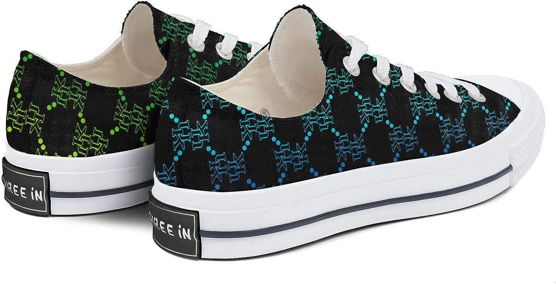 BOINN Womens Low Top Lace Up Flat Canvas Shoe Non Slip Durable Clipper Walking Sneakers