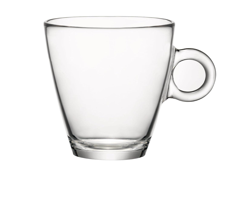 Bormioli Rocco Easy Bar Cappuccino Cups, Clear, Set of 12 Bormioli Rocco Glass Co. Inc. 430230M04321990