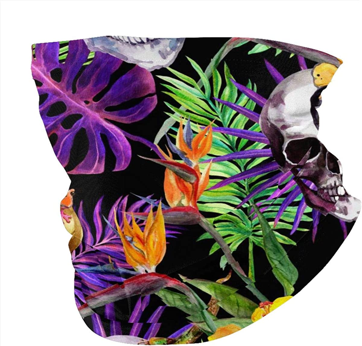 Unisex Face Bandana Human Skulls Tropical Leaves Animals Exotic Flowers Repeating Pattern On Black Background Watercolor Protection Sun Uv Dust Protection Breathable Sports Scarves Magic Scarf At Amazon Women S Clothing Store Download 260 tropical leaves black free vectors. amazon com