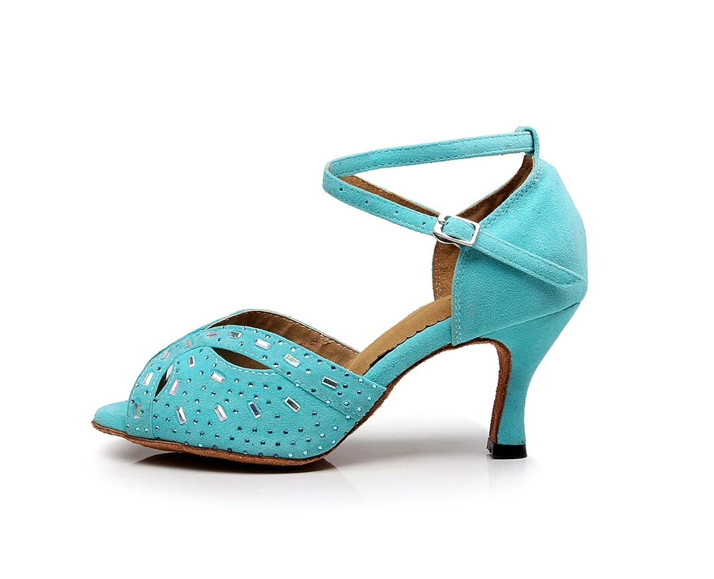 Miyoopark , Damen Tanzschuhe , Türkis - Turquoise-7.5cm Heel - Größe: 36.5
