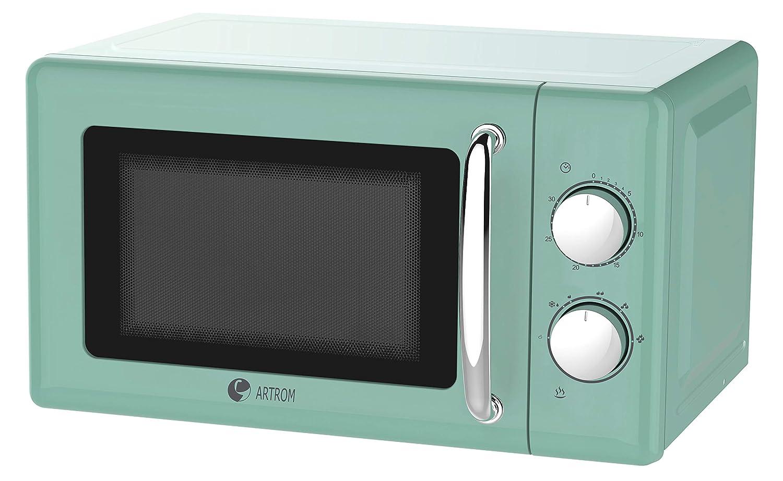 Microondas vintage básico colores pastel (Azul pastel): Amazon.es ...