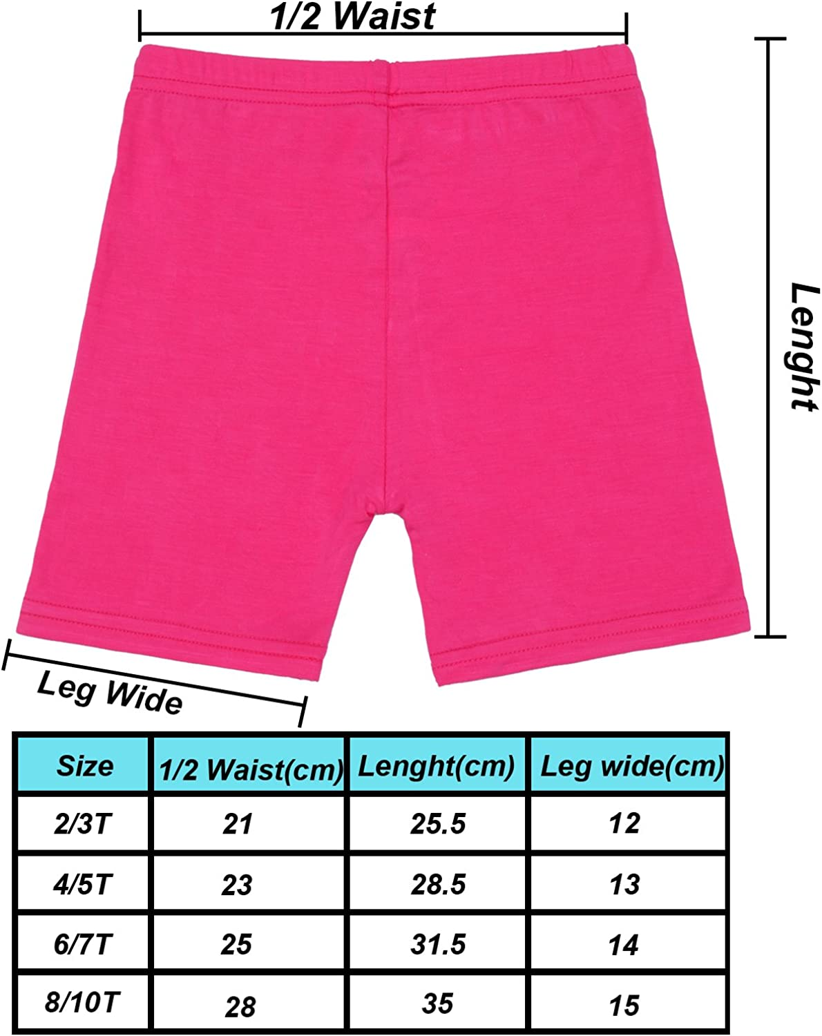 Resinta 15 Pack Dance Shorts Girls Bike Short Breathable and Safety