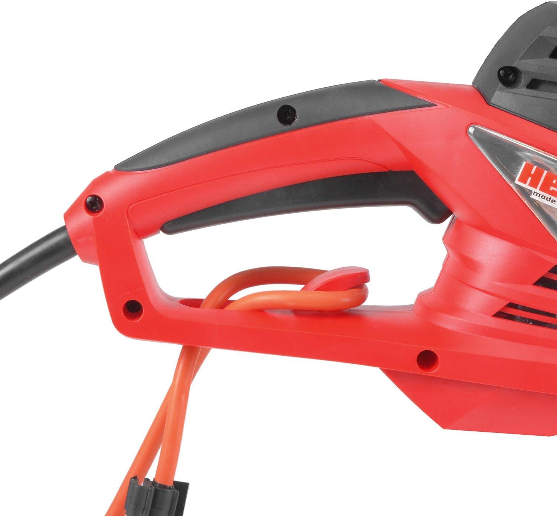 HECHT Elektro-Heckenschere 655 Strauch-Schere 600 Watt, 62 cm Schwertl/änge und 20 mm Schnittst/ärke