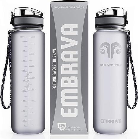 Embrava Best Sports Water Bottle - 32oz Large
