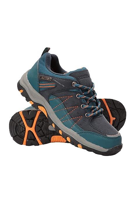 Mountain Warehouse Stampede Wanderschuhe für Kinder Laufschuhe, wasserfeste Trekkingschuhe, Schuhe für Kinder aus Wildleder und Netzstoff Für
