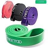 [Resistance Band] FREETOO® Fitnessbänder professionelle Latex Widerstand Bänder Pull-Up Bänder Klimmzughilfe für Bodybulding/Yoga/ Krafttraining/CrossFit in 4 Stärken