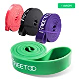 [Resistance Band] FREETOO Fitnessbänder professionelle Latex Widerstand Bänder Pull-Up Bänder Klimmzughilfe für Bodybulding/Yoga/ Krafttraining/CrossFit in 4 Stärken