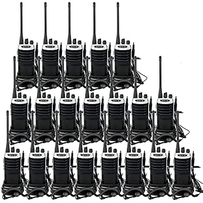 Retevis RT7 Walkie Talkies with Earpiece Adults Long Range 2 Way Radios Flashlight UHF 16CH VOX FM Emergency Business Two-Way Radios (20 Pack)