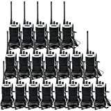 Retevis RT7 Walkie Talkies Adults Long Range 2 Way Radios 16CH VOX FM Flashlight Emergency Two-Way Radios with Earpiece(20 Pack)