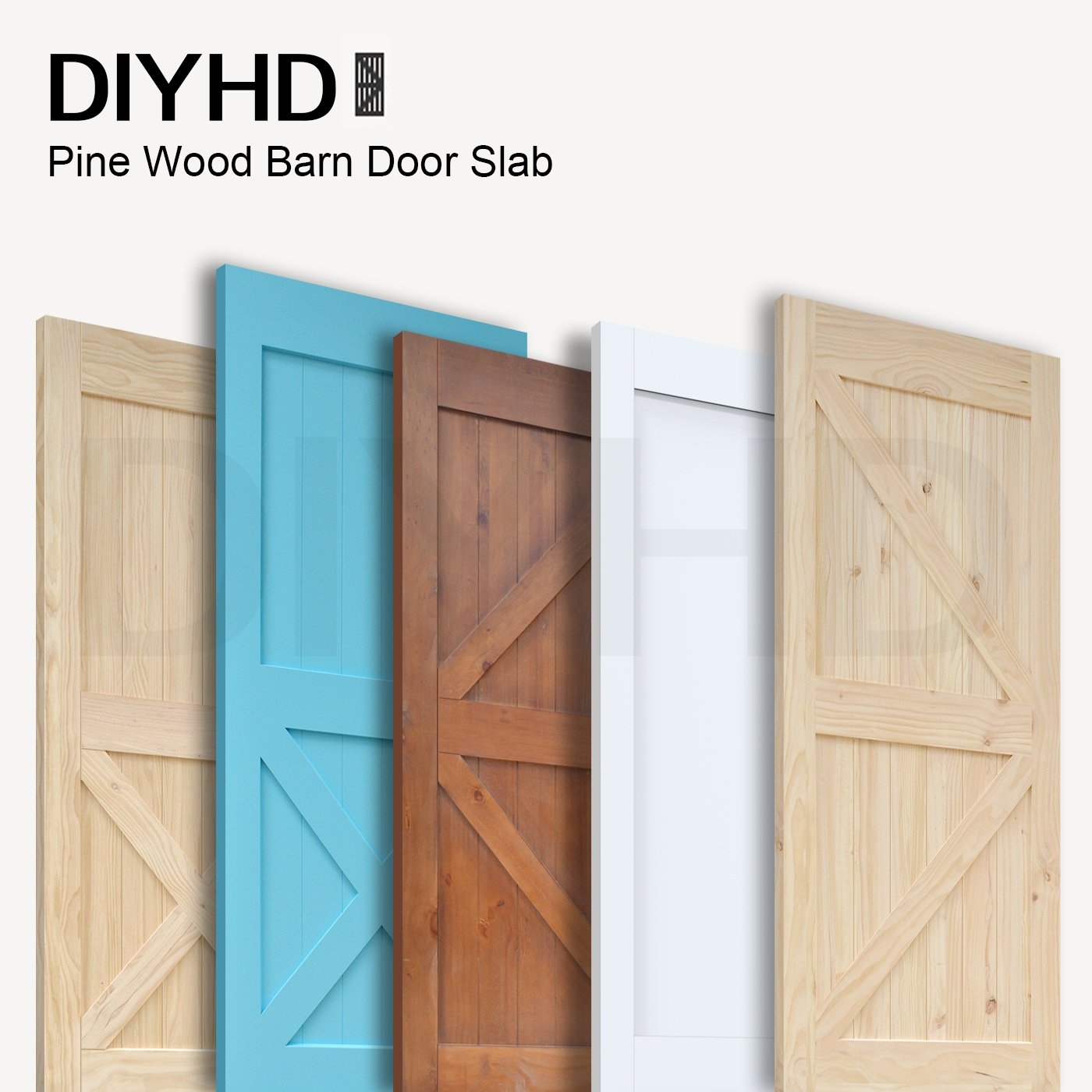Amazon.com 38 in84 in Pine Knotty Sliding Barn Door Slab Two-side X Shape Barn Wood Door Panel Blue Painted Sliding Barn Door Home Improvement  sc 1 st  Amazon.com & Amazon.com: 38 in84 in Pine Knotty Sliding Barn Door Slab Two-side X ...