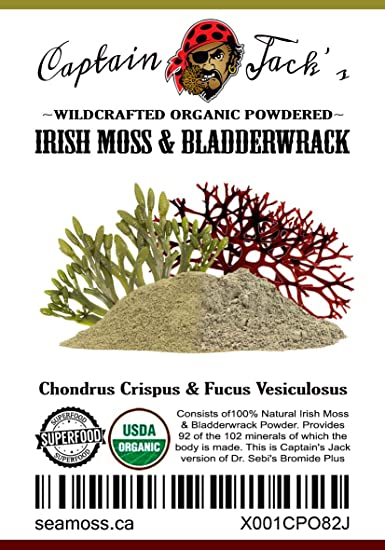 Wildcrafted Sea Moss And Bladderwrack Powder Superfood Amazon Com