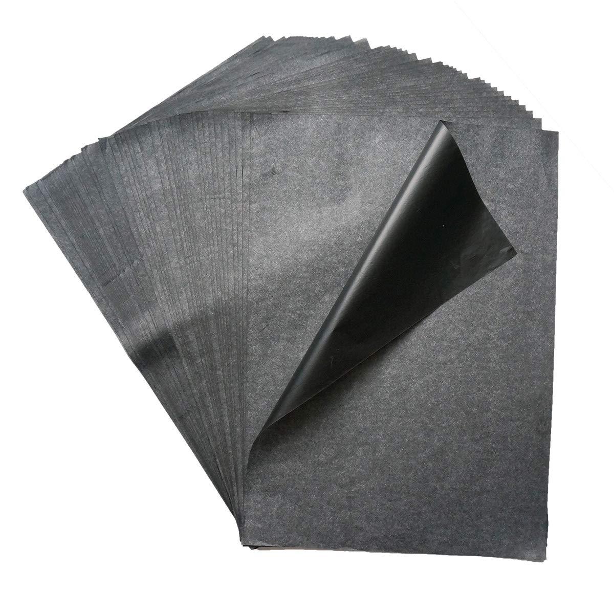 50 Fogli Carta Grafite da Ricalco Carta di trasferimento Carbonio Carta Copiativa 9x13 Pollici per Legno Crta Tela Ceramica SuperHandwerk
