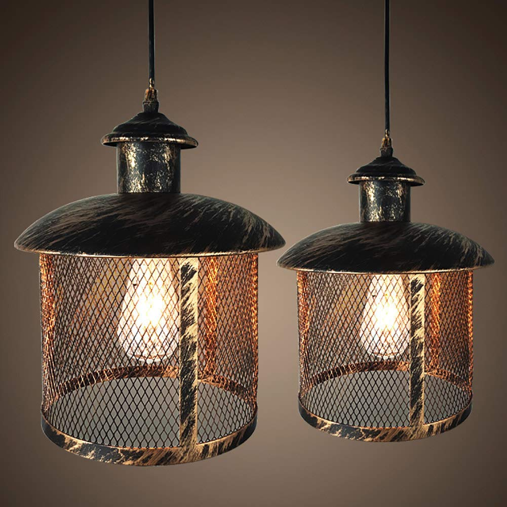 ZNDDDM Pendant Lighting for Kitchen Island Farmhouse, Nordic Antique Rust Chandelier for Living Room Bedroom Corridor Loft, D32×H36Cm