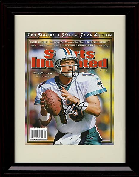 Framed Dan Marino Sports Illustrated HoF Commemorative Print