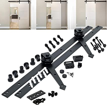 Sistema herrajes para puerta corredera 244cm 8ft max. 150kg Riel para puerta deslizante Decoración: Amazon.es: Oficina y papelería