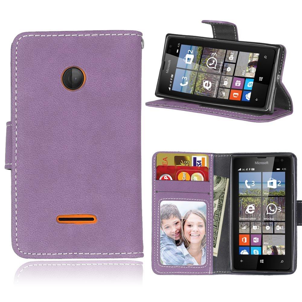 Coque pour Nokia Lumia 930 / N930, Ecoway Givré Coque/ Housse/ Case/ Couverture/ Étui de Protection/ Cover/ PU Leather Coque Flip Magnétique Portefeuille Etui Housse de Protection Coque Étui Case Cover avec Stand Support Avec de