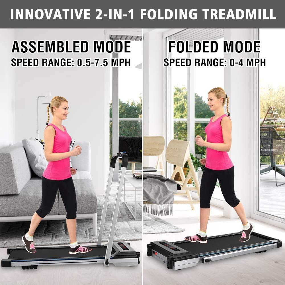 CIIHI C Portable Treadmill for Small Spaces Foldable Under Desk ...