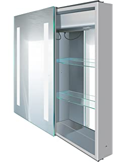 Krugg | LED Medicine Cabinet 20 Inch X 30 Inch | Soft Close Lighted Sliding  Mirror