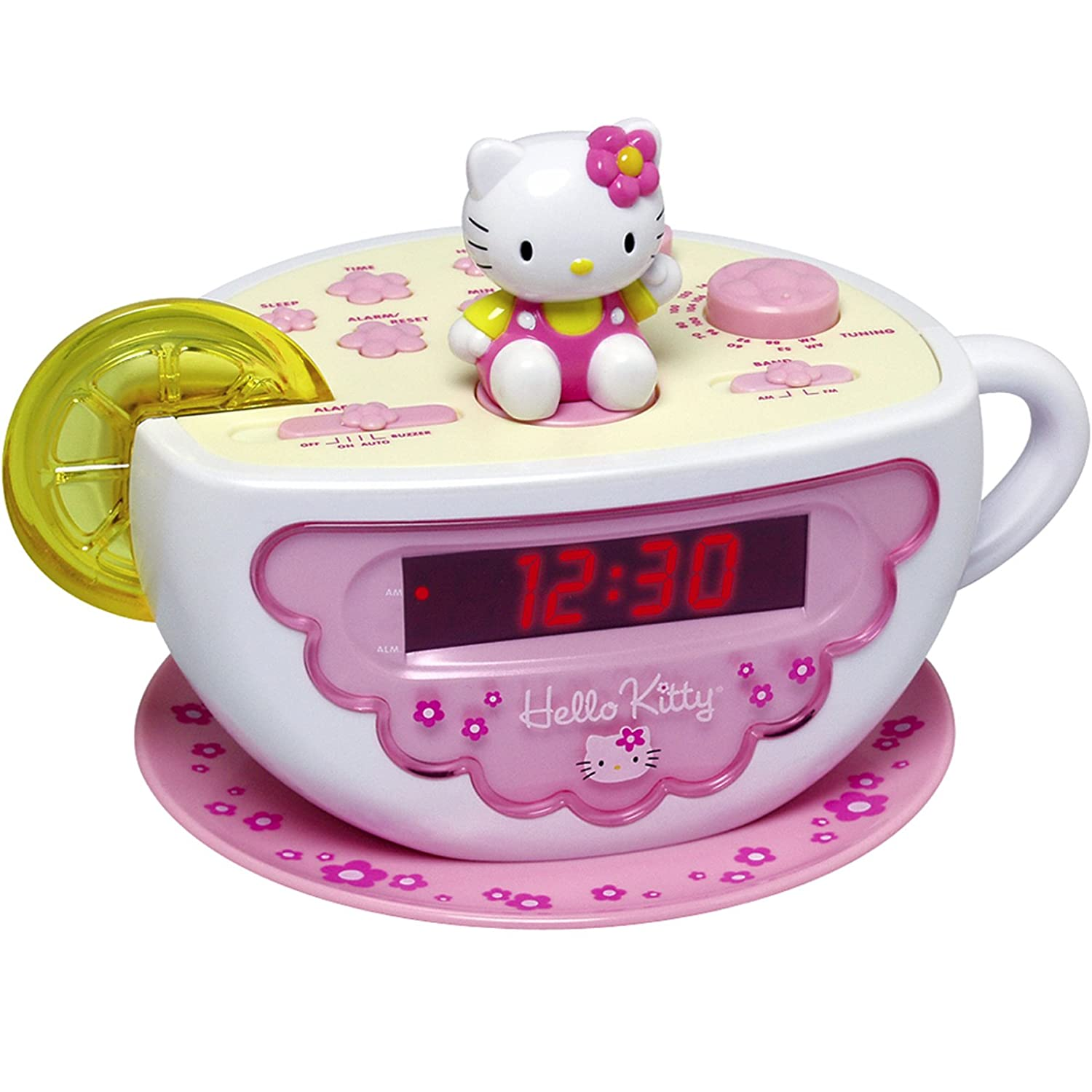 Amazoncom Hello Kitty Digital Clock Radio with AMFM Radio and