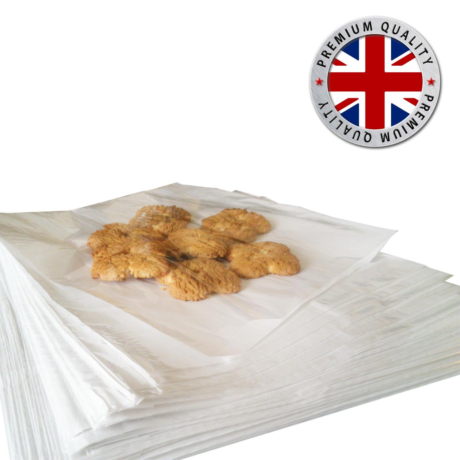 100 Film Fronted/Front Cellophane Window Sandwich Food Paper Bags 7 x 7 (175mm x 175mm) Super Speedy SSP-FPB-7x7