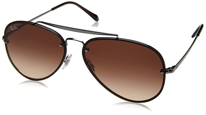 12f856e4b Amazon.com: Ray-Ban Blaze Aviator Sunglasses, Gunmetal, 58 mm: Clothing
