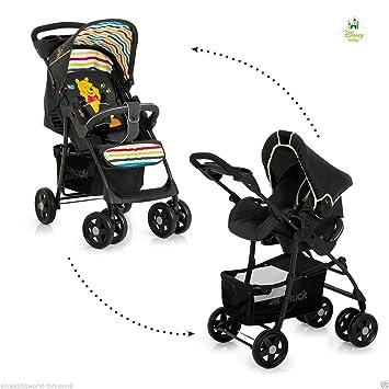 Nueva Hauck Sistema de viaje Disney Winnie The Pooh bolsa carrito para cochecito de bebé + resistente al agua + protector de lluvia: Amazon.es: Bebé