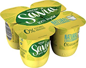 Danone Savia - Savia de Soja Natural, 4 x 120 g: Amazon.es ...