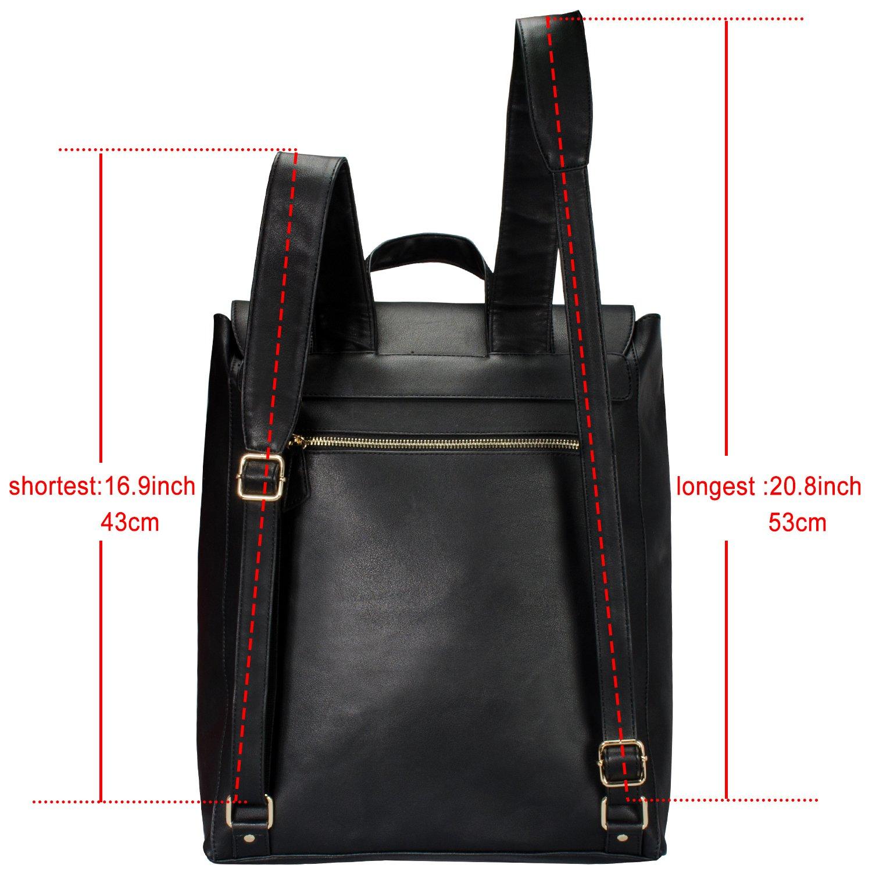 e5b51d9844f Estarer Women Backpack Purse PU Leather Fit 14-inch Laptop Girls ...