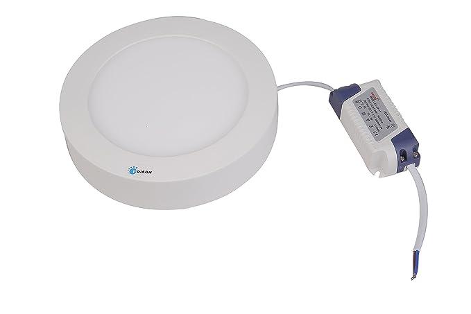 buy elektra 12w edison led surface panel light round warm white
