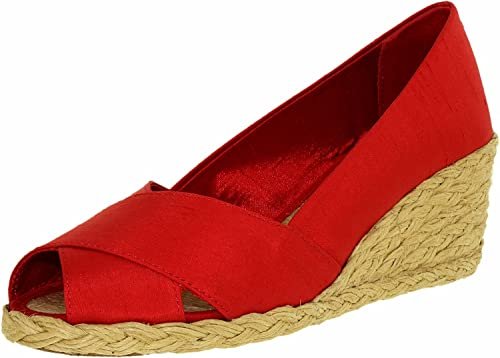 bb6448960ec1 Polo Ralph Lauren Women s Cecilia II Shantung Red Ankle-High Synthetic  Sandal - 10M
