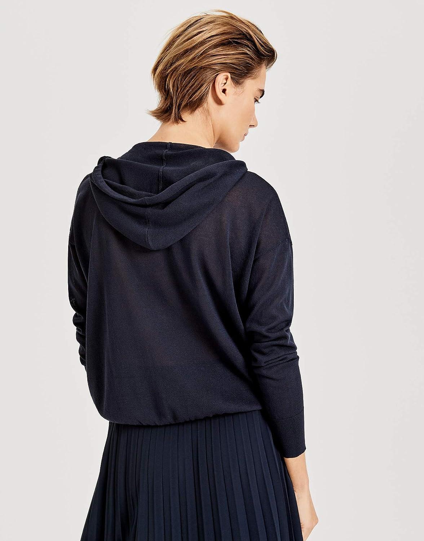 OPUS Feinstrick Pullover Pukali mit Kapuze