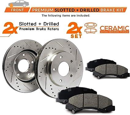 2006 2007 2008 2009 2010 Fit Toyota Rav4 OE Replacement Rotors w//Ceramic Pads R