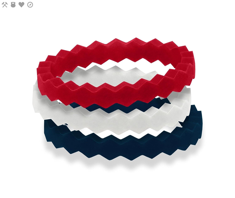 qalo- silicona anillos para mujer seguro boda banda anillo de goma, Yoga, Crossfit, levantamiento de peso, entrenamiento, ejercicio, Fitness, bombero, ...