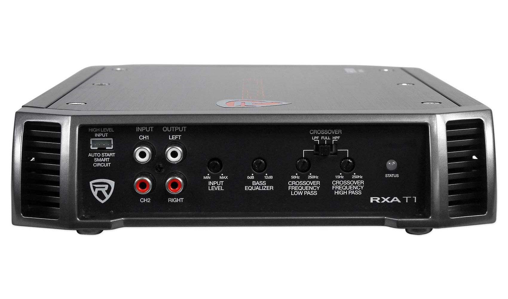 New Rockville RXA-T1 1500 Watt Peak/750w RMS 2 Channel Amplifier Car Stereo  Amp