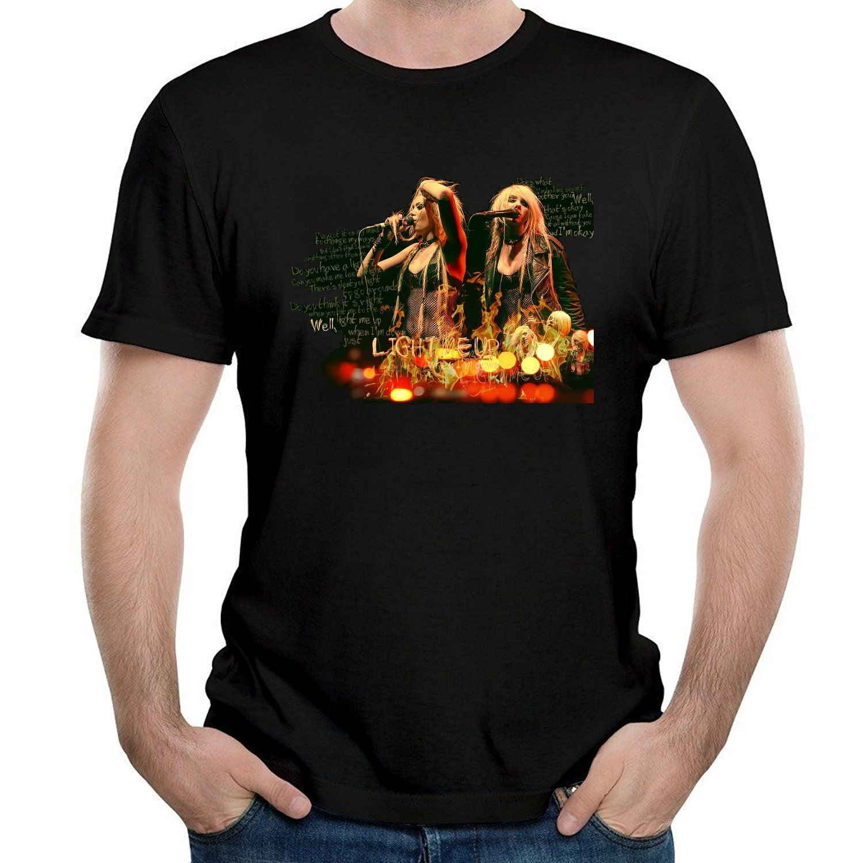 32966bd59 Amazon.com: ILONSE Men's The Pretty Reckless Singing T Shirts Black:  Clothing
